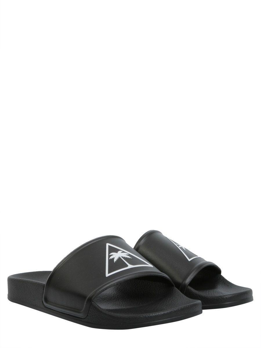 223d666f21f4 Lyst - Palm Angels Men s Black Polyurethane Sandals in Black for Men