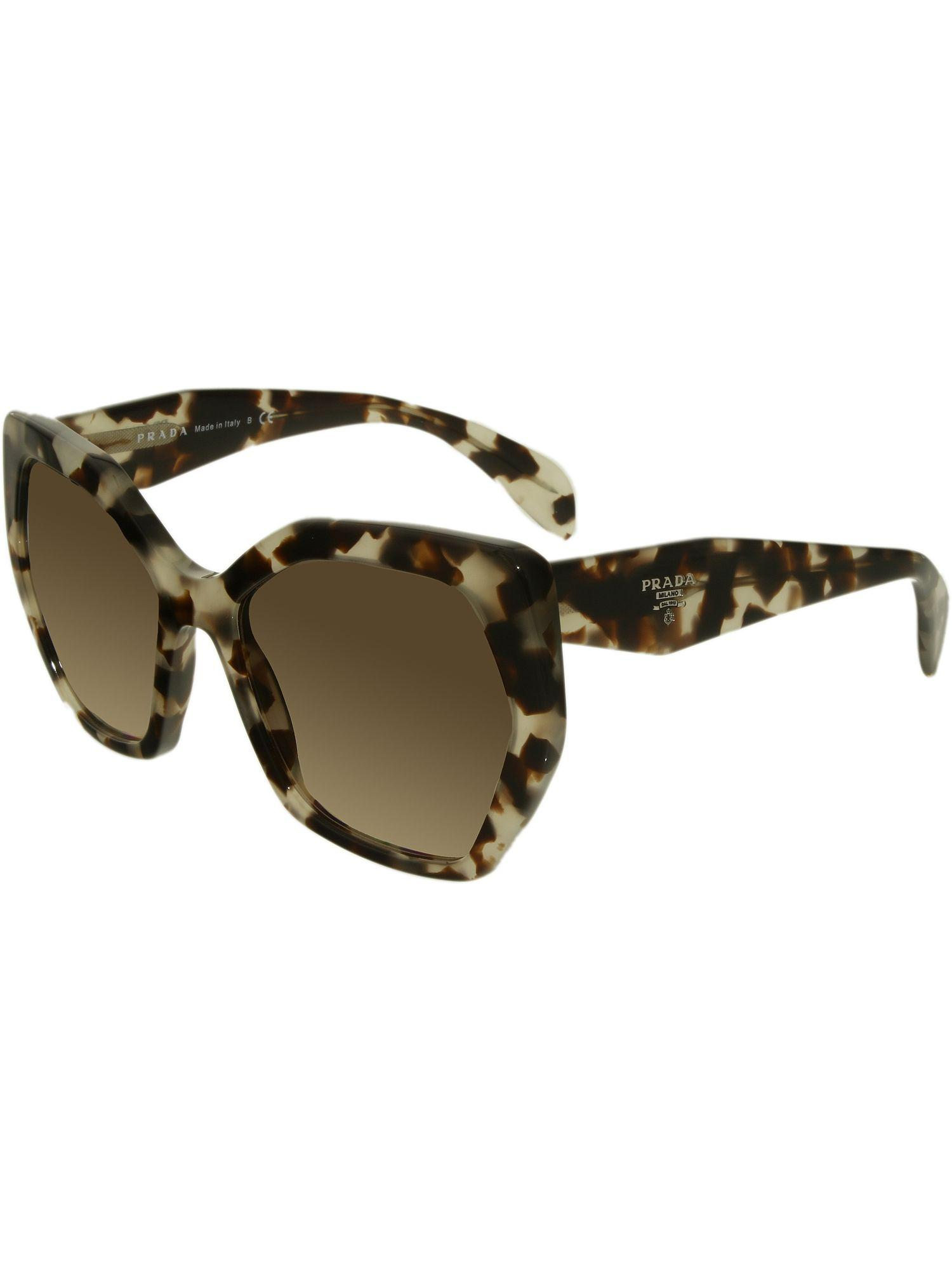 0399799697b1 Lyst - Prada Pr 16rs Uao3d0 Spotted Opal Brown Butterfly Sunglasses ...