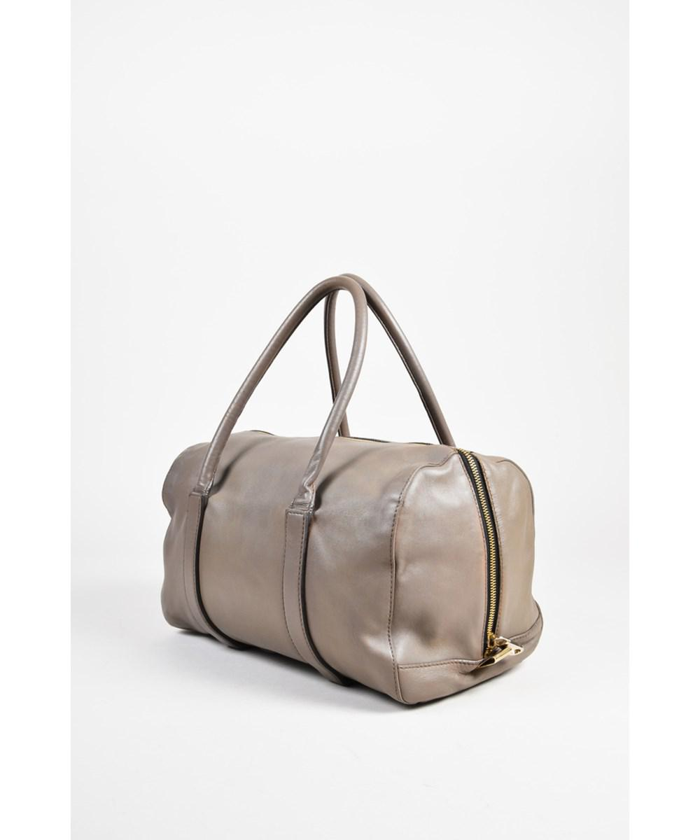 7df9dda0280 Lyst - Chloé 1 Taupe Leather Gold Tone Zip