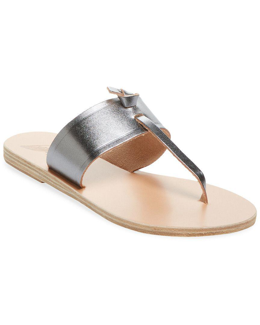 607298e345820e Lyst - Ancient Greek Sandals Melina Leather Thong Sandal