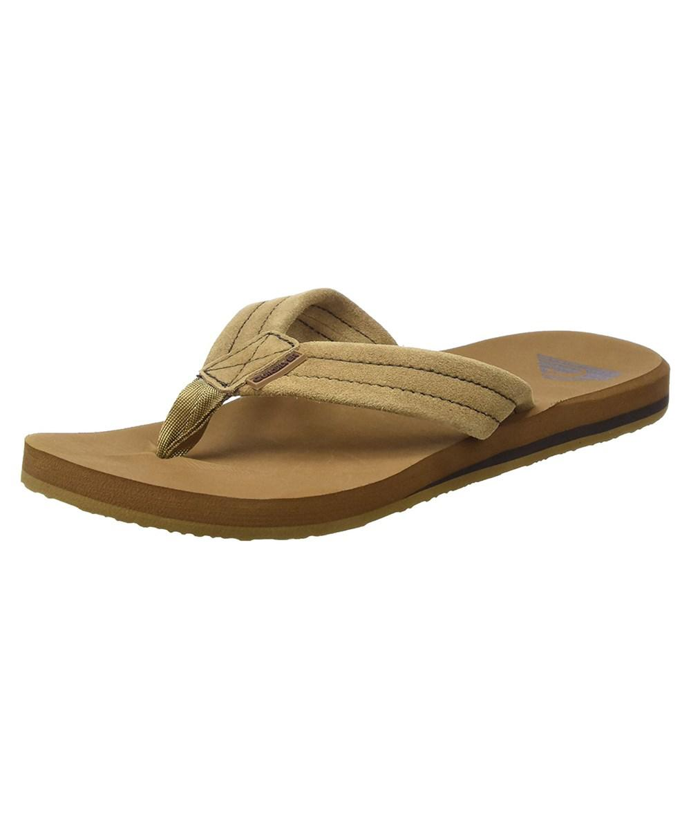 c10c09f4115a Lyst - Quiksilver Men s Carver Suede 3-point Flip-flop in Brown for Men