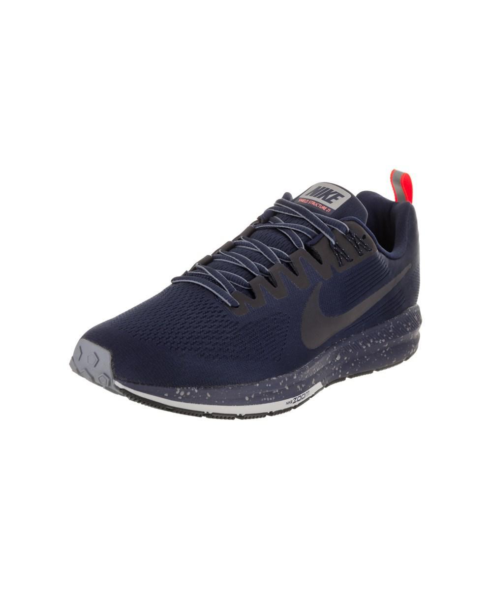 d9da9f531f1 Lyst - Nike Men s Air Zoom Structure 21 Shield Running Shoe in Blue ...