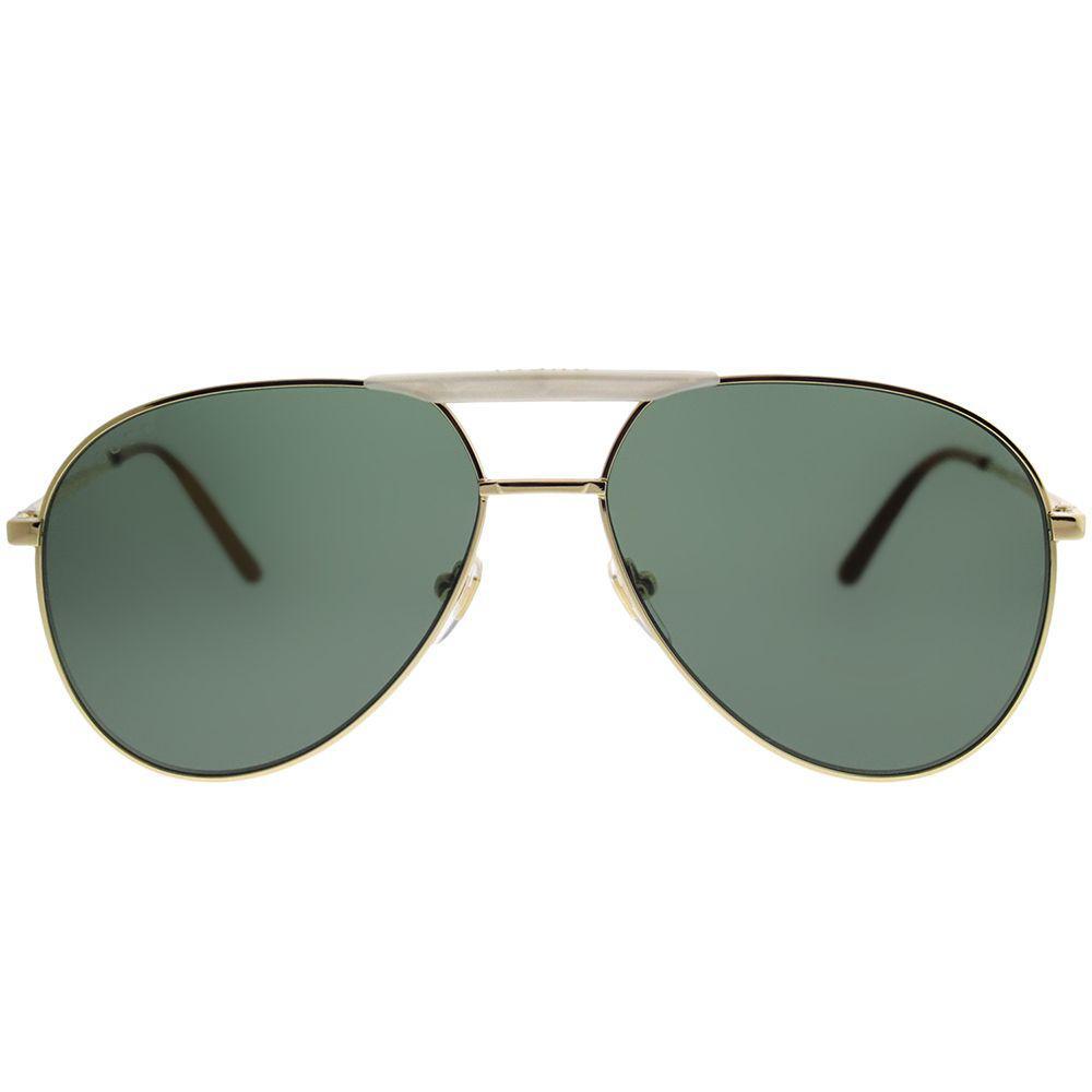 5c7e230cce Gucci - Multicolor Gg0242s 003 Gold Aviator Sunglasses - Lyst. View  fullscreen