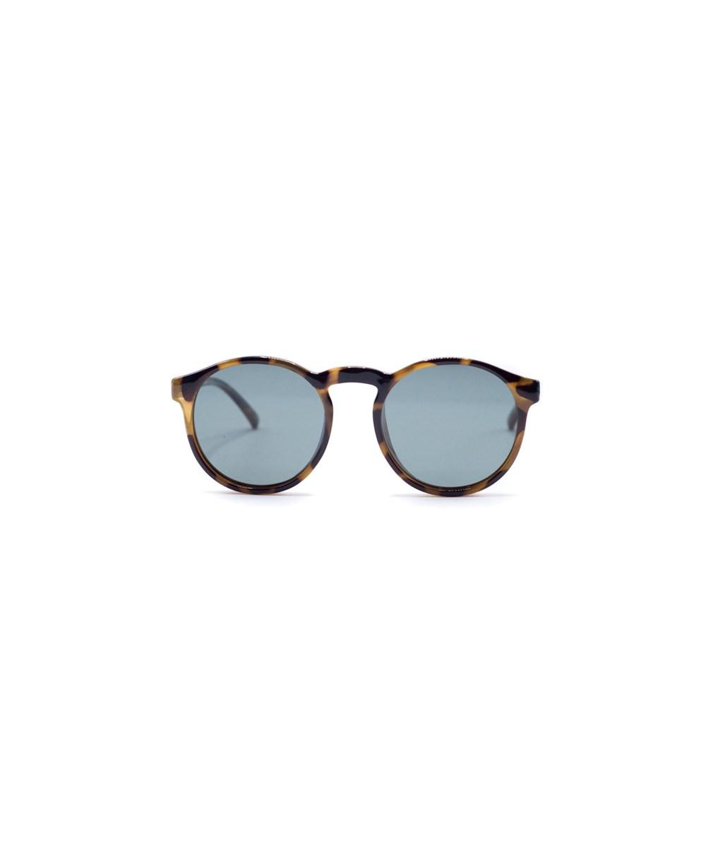 beed441b704 Le Specs Unisex Cubanos Polarized Milky Tort Brown Round Sunglasses ...