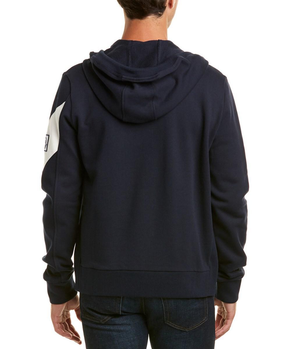 0bec9fd07 Lyst - Moncler Maglia Hooded Jacket in Blue for Men