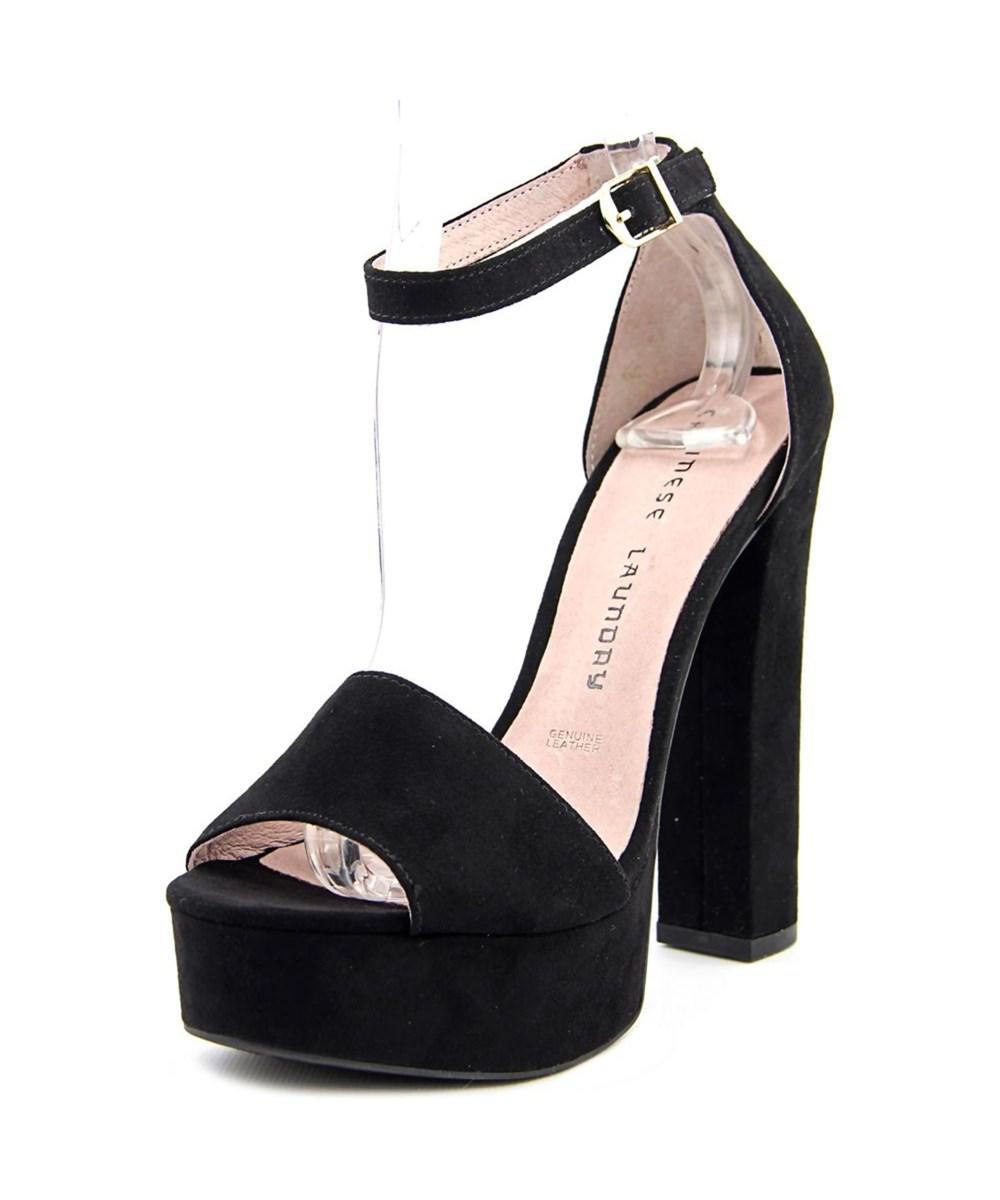 dded366542ae Lyst - Chinese Laundry Avenue Women Open Toe Synthetic Black ...