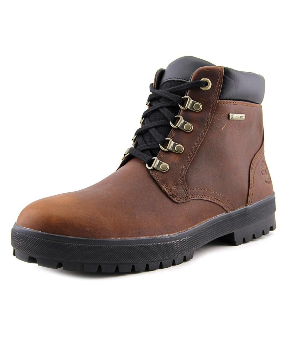 a738ea86164 Lyst - Timberland Bush Hikers Chk Men Round Toe Leather Brown Work ...