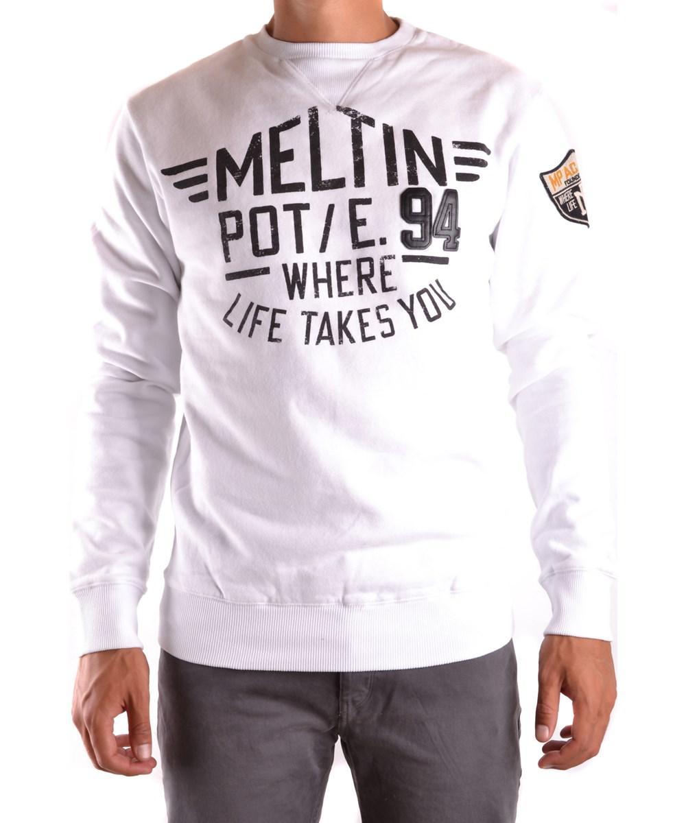 Meltin'pot Men's White Cotton Sweater in White for Men   Lyst