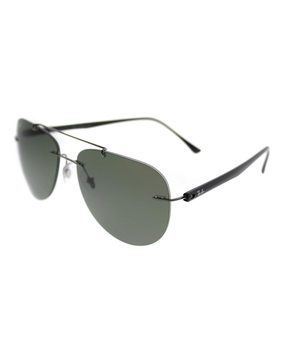 Lyst - Ray-Ban 0rb8059 004 9a 57mm Gunmetal Aviator Sunglasses ... 8c0e28588668