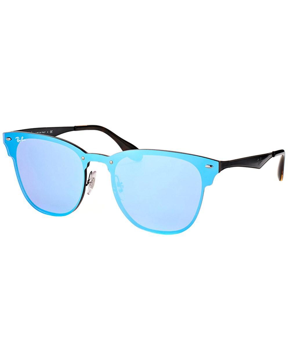 80fd3aa62c4 Ray-Ban. Women s Blaze Clubmaster Rb 3576n 153 7v 41mm Demi Glos Black  Sunglasses