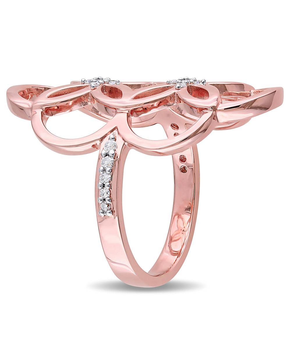 Lyst - Catherine Malandrino 18k Rose Gold Plated Circle Linked ...