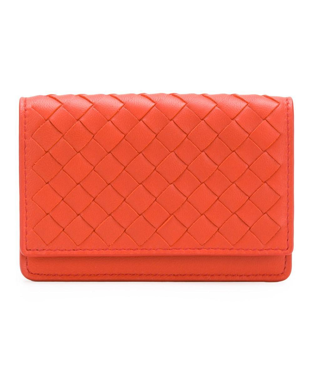 woven fold-over wallet - Metallic Bottega Veneta p3A32r8