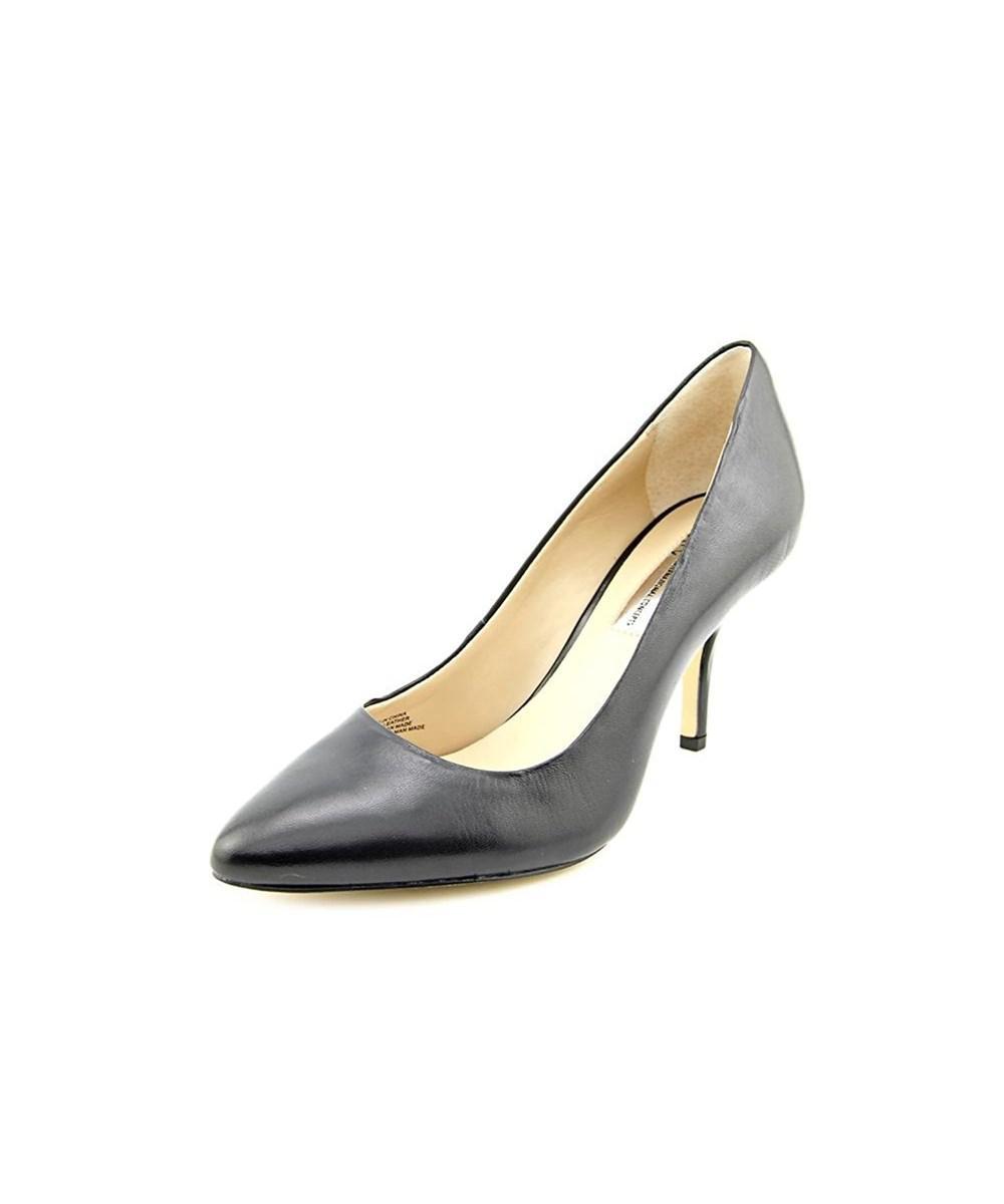 39da5100fd71 INC International Concepts. Black Womens Zitah Leather Pointed Toe Classic  Pumps
