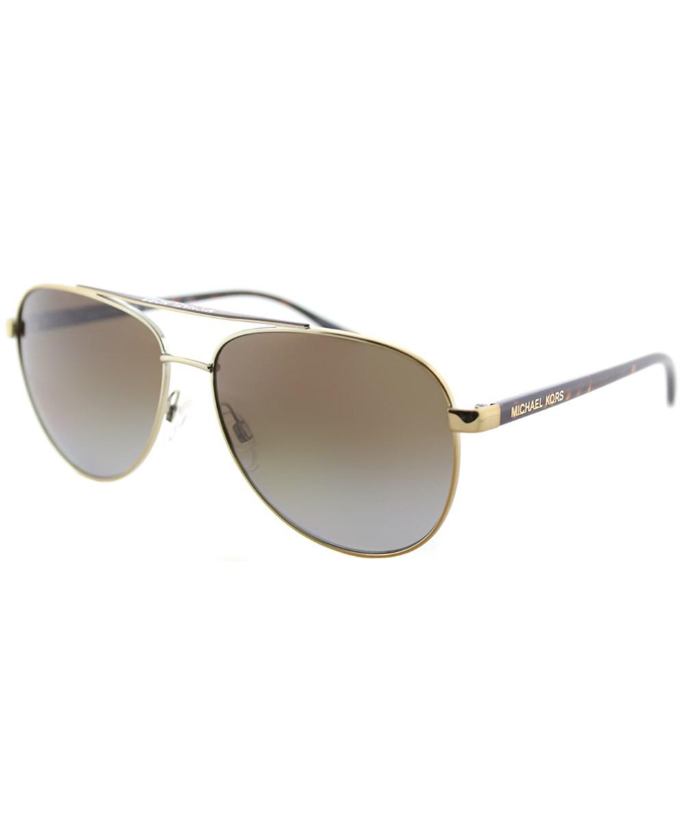ff368bf5be0 Lyst - Michael Kors Mk5007 1044t5 59mm Gold Tortoise Aviator Hvar ...