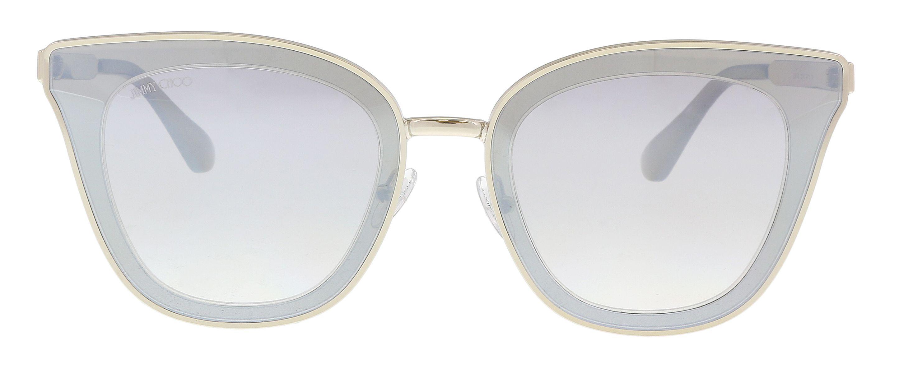 482ed89e514 Jimmy Choo - Metallic Lory s 0ky2 Gold  Blue Cat Eye Sunglasses - Lyst.  View fullscreen