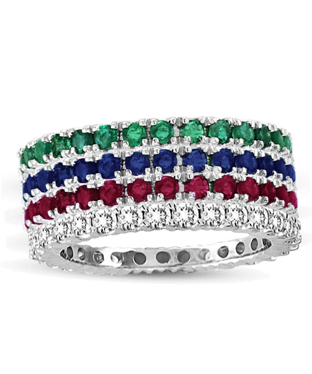 estate diamond levian sapphire ruby gold emerald ring watch jewelry
