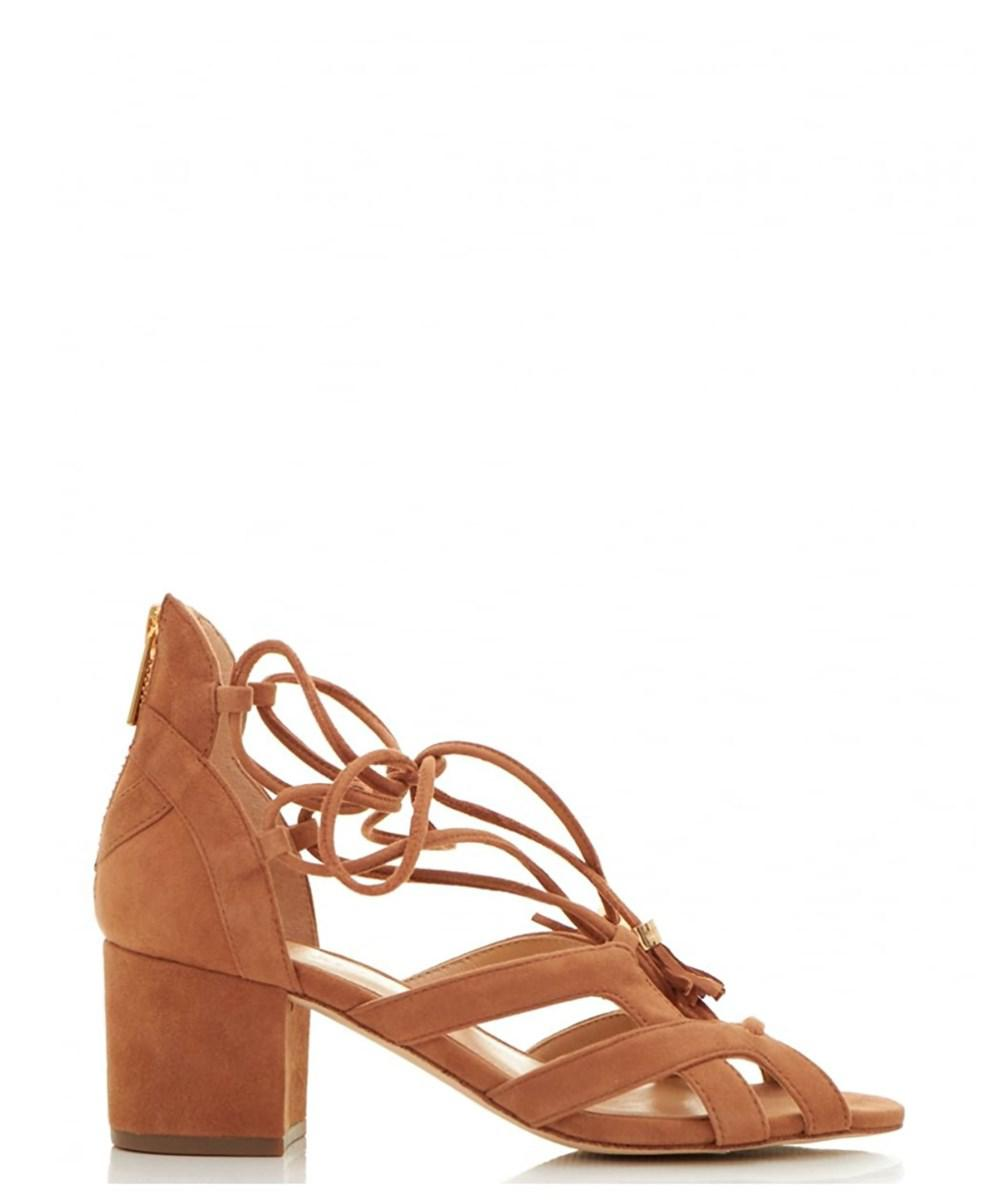 71225cf86c4941 MICHAEL Michael Kors. Brown Womens Mirabel Mid Fabric Open Toe Casual Strappy  Sandals