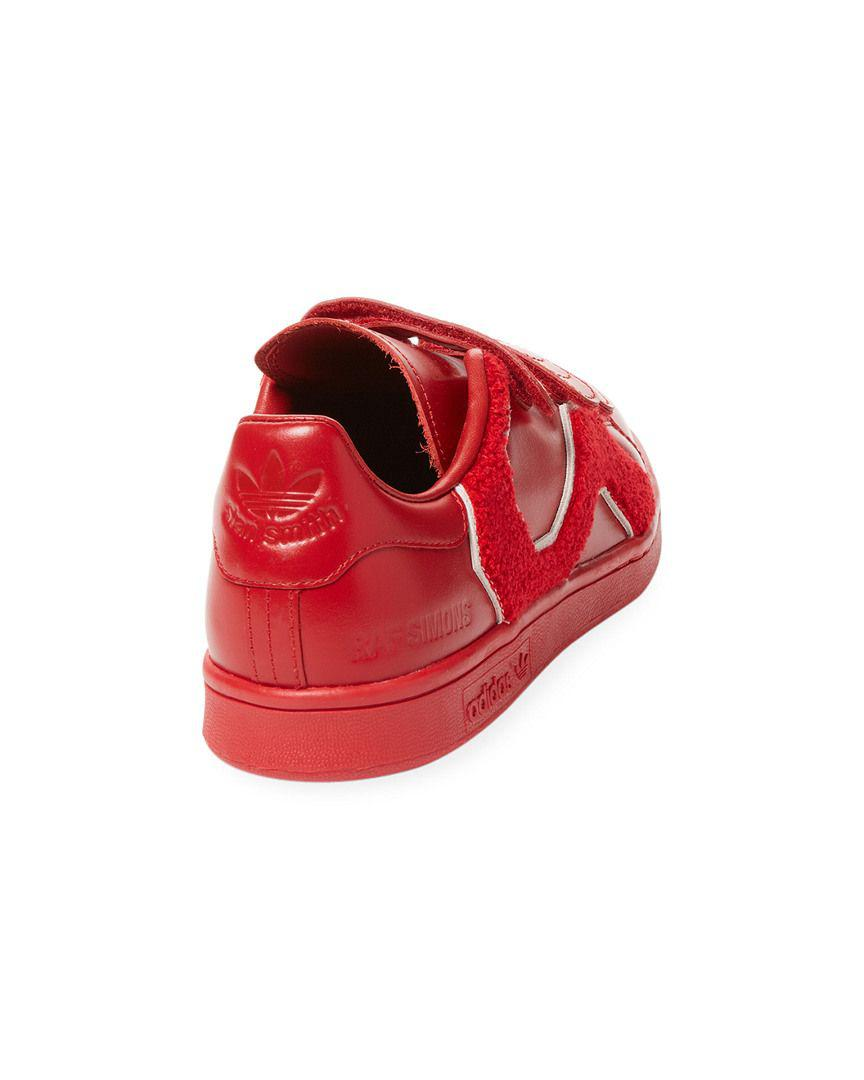 98a4c6fa8833 Adidas - Red By Raf Simons Rs Stan Smith Comfort Badge Low-top Sneaker for.  View fullscreen