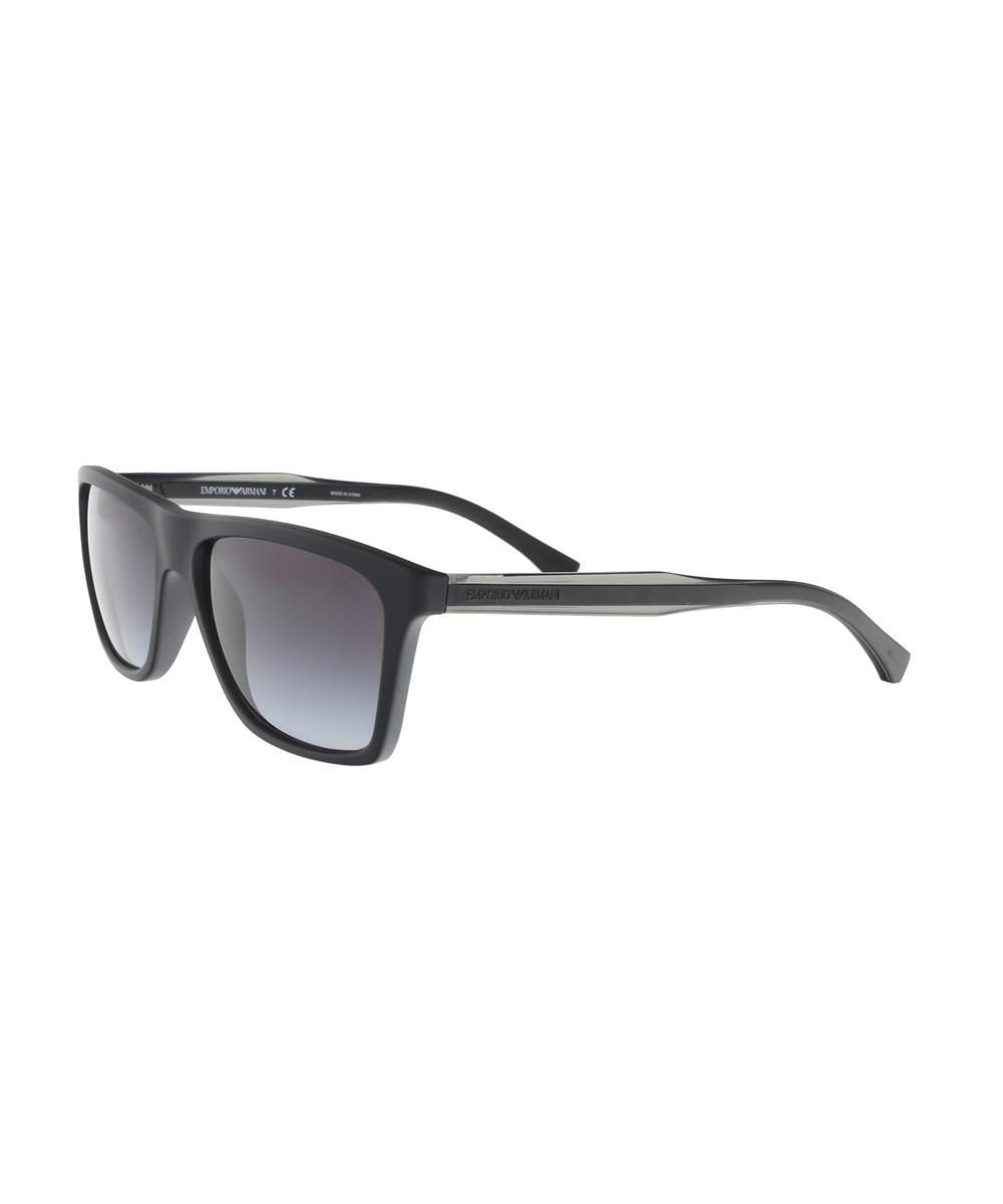 991f99c72c1b Lyst - Emporio Armani Ea4001 50638g Matte Black Square Sunglasses in ...