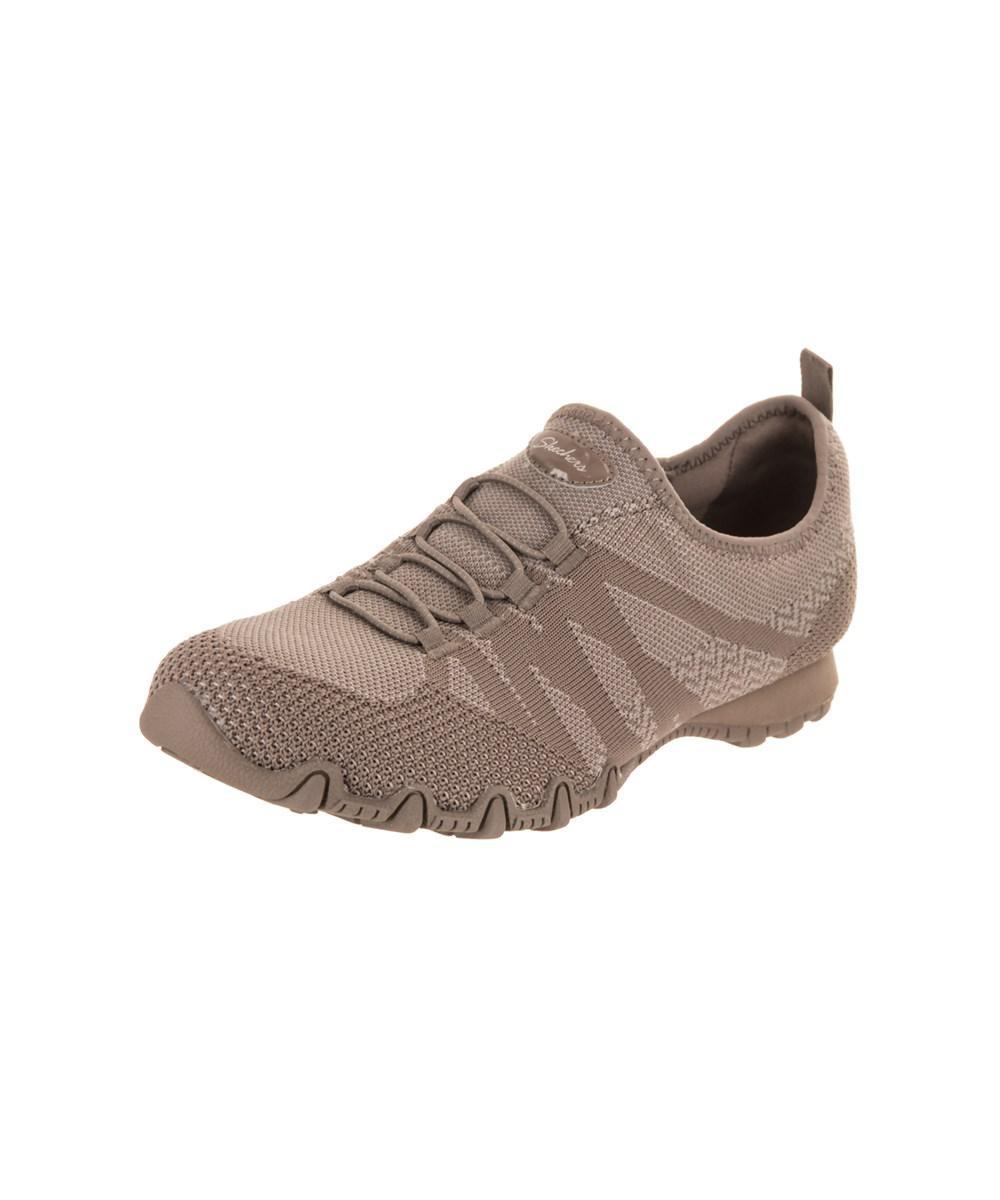 26eae531650 Lyst - Skechers Women s Bikers - Knit Happens Casual Shoe in Brown