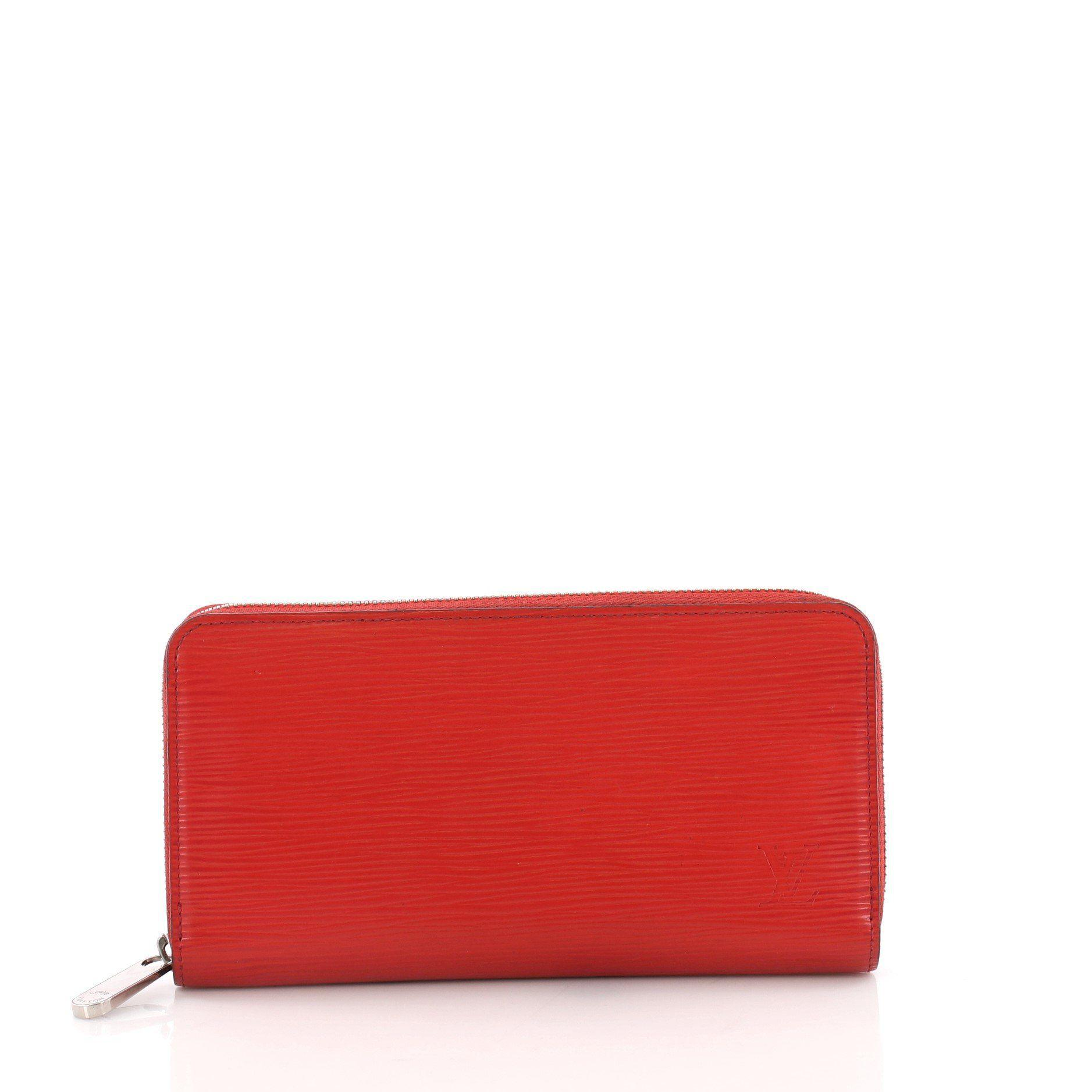 Lyst - Louis Vuitton Pre Owned Zippy Wallet Epi Leather in Red 52fec2e5a63