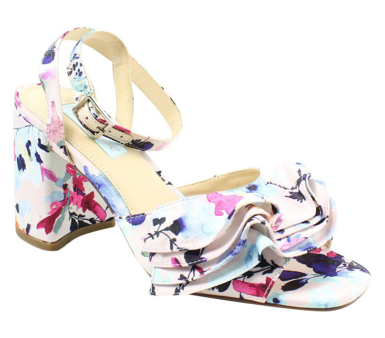 d7b0d3cd698 Lyst - Betsey Johnson Womens Sb-flirt Blush Multi Ankle Strap Heels