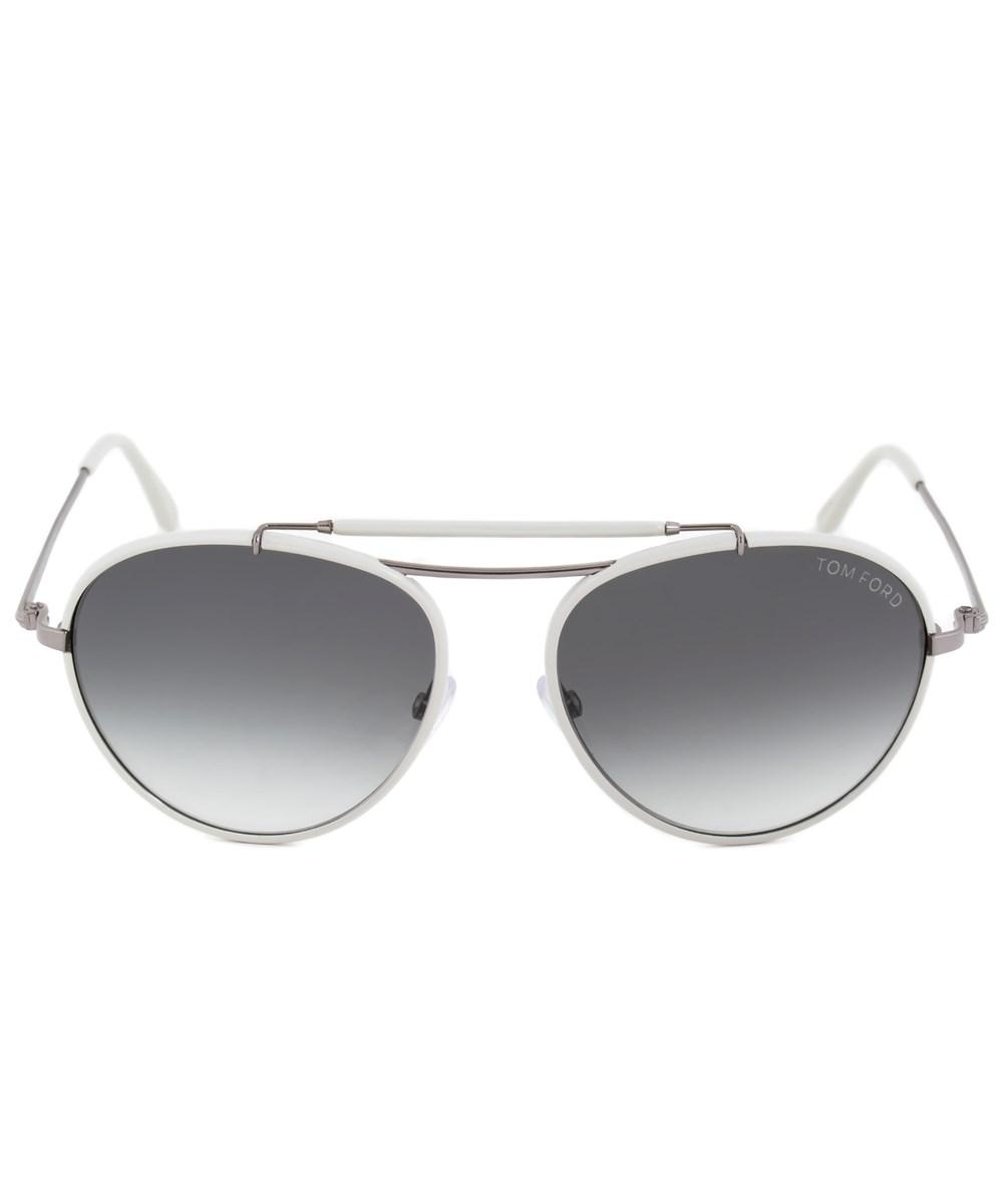 Lyst - Tom Ford Burke Aviator Sunglasses Ft0247 14w 56 | White Frame ...