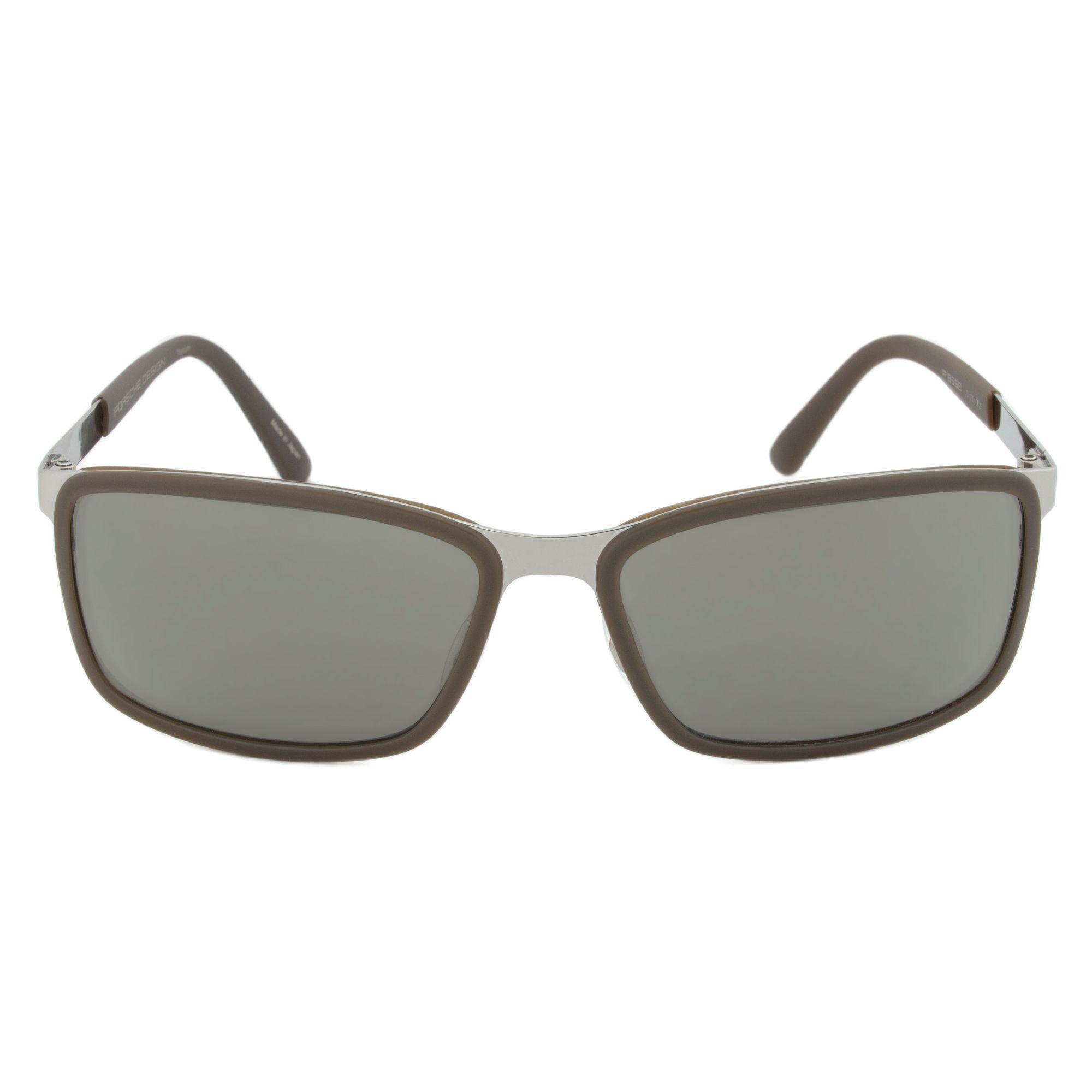 64676c7890ed Lyst - Porsche Design Design P8552 D Rectangular Sunglasses