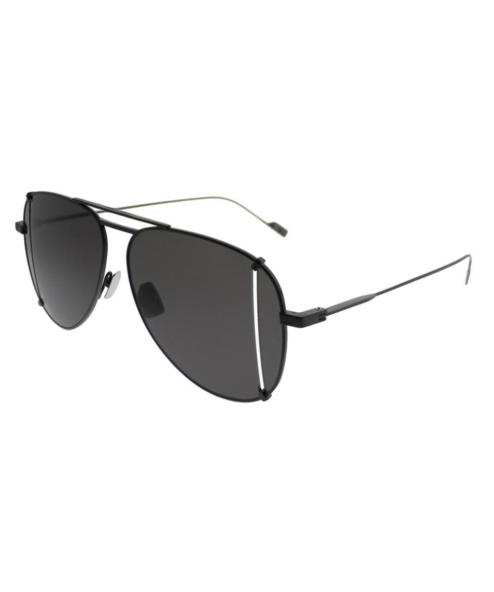 c8e725c7602 Lyst - Saint Laurent 193 T Cut 002 Black Aviator Sunglasses in Black ...