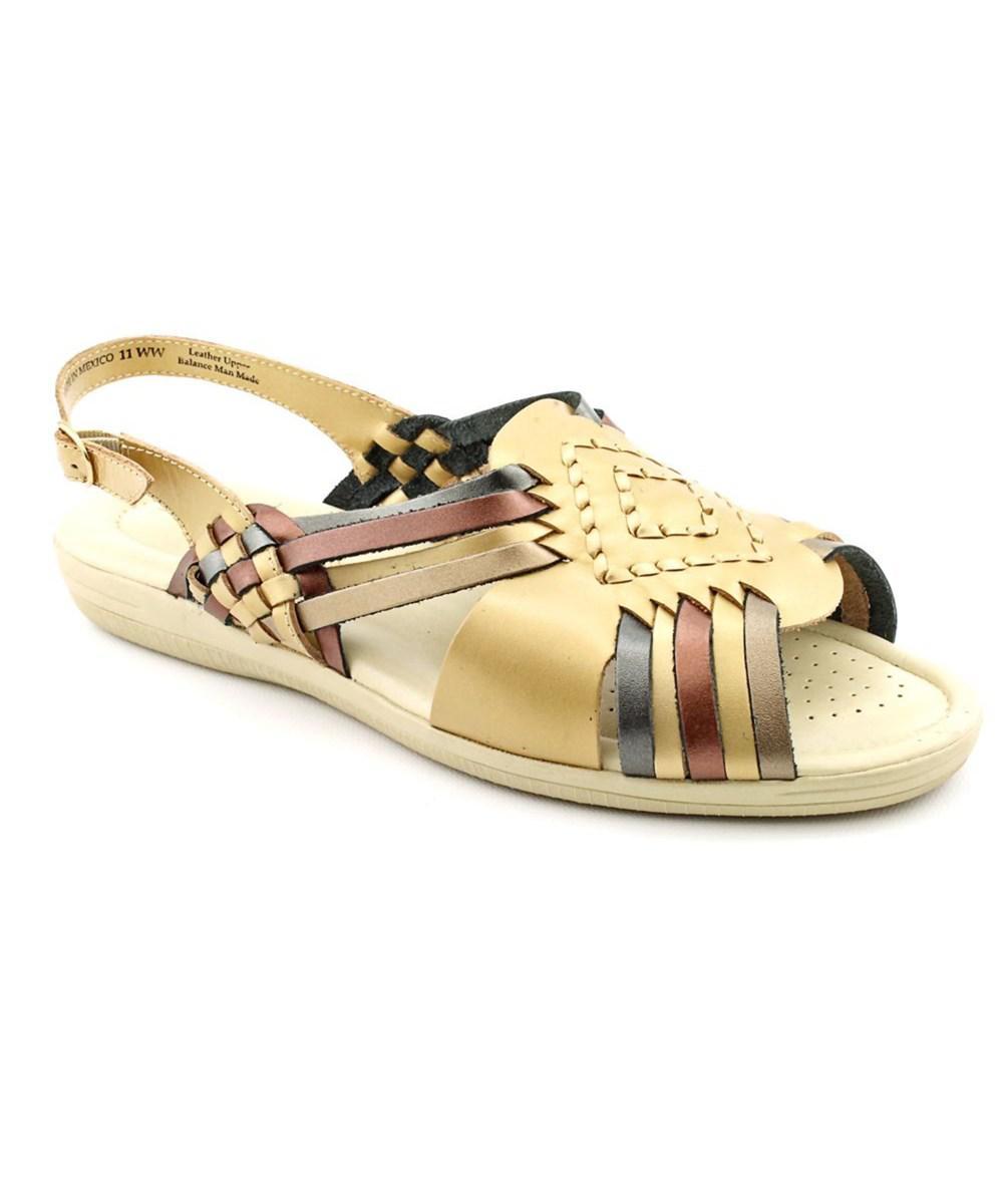 294451f5d47c Lyst - Softspots Tela N s Open-toe Leather Slingback Sandal in Metallic