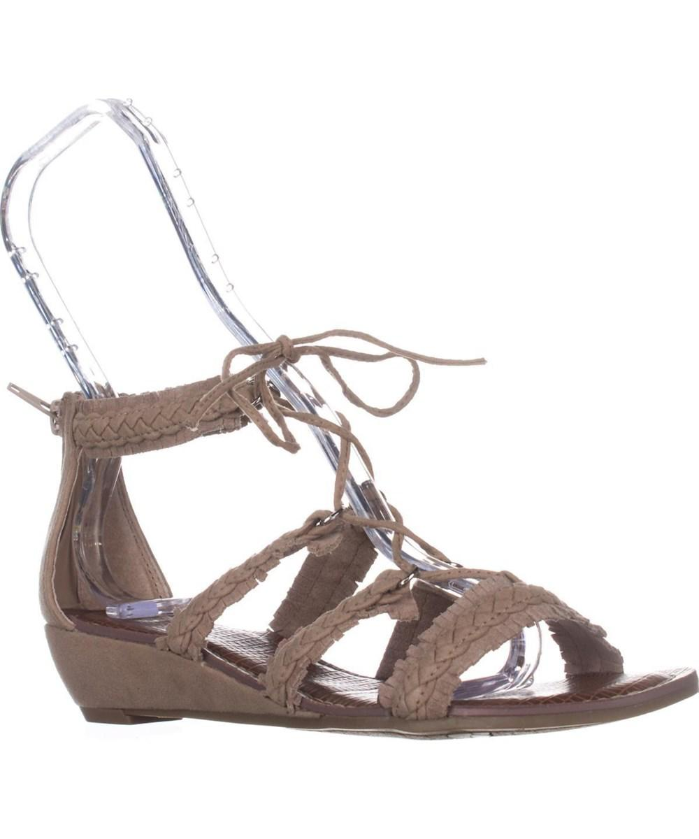 Carlos By Carlos Santana. Women's White Kenzie Flat Lace-up Sandals, Soft  Taupe