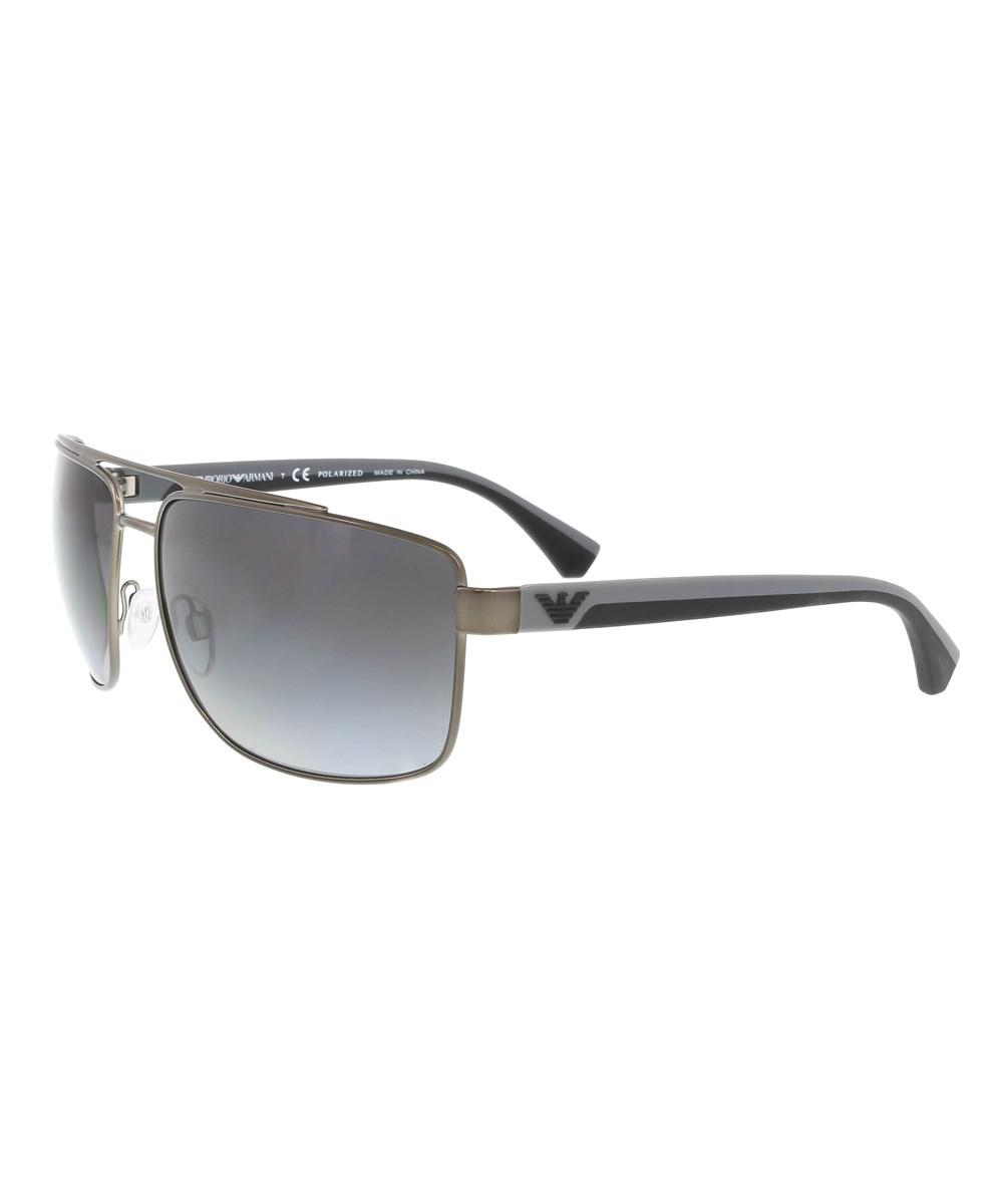 2191b95f470 Lyst - Emporio Armani Ea2018 3003t3 Grey Aviator Sunglasses in Gray ...