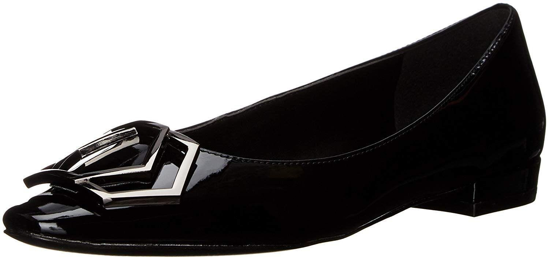 8bd46e73e7ec Lyst - Nine West Women s Craven Patent Ballet Flat in Black