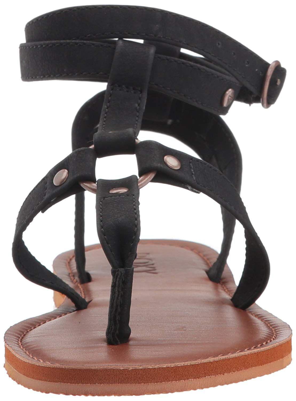 bfd2681750b00 Roxy - Black Soria Sandal Flat - Lyst. View fullscreen