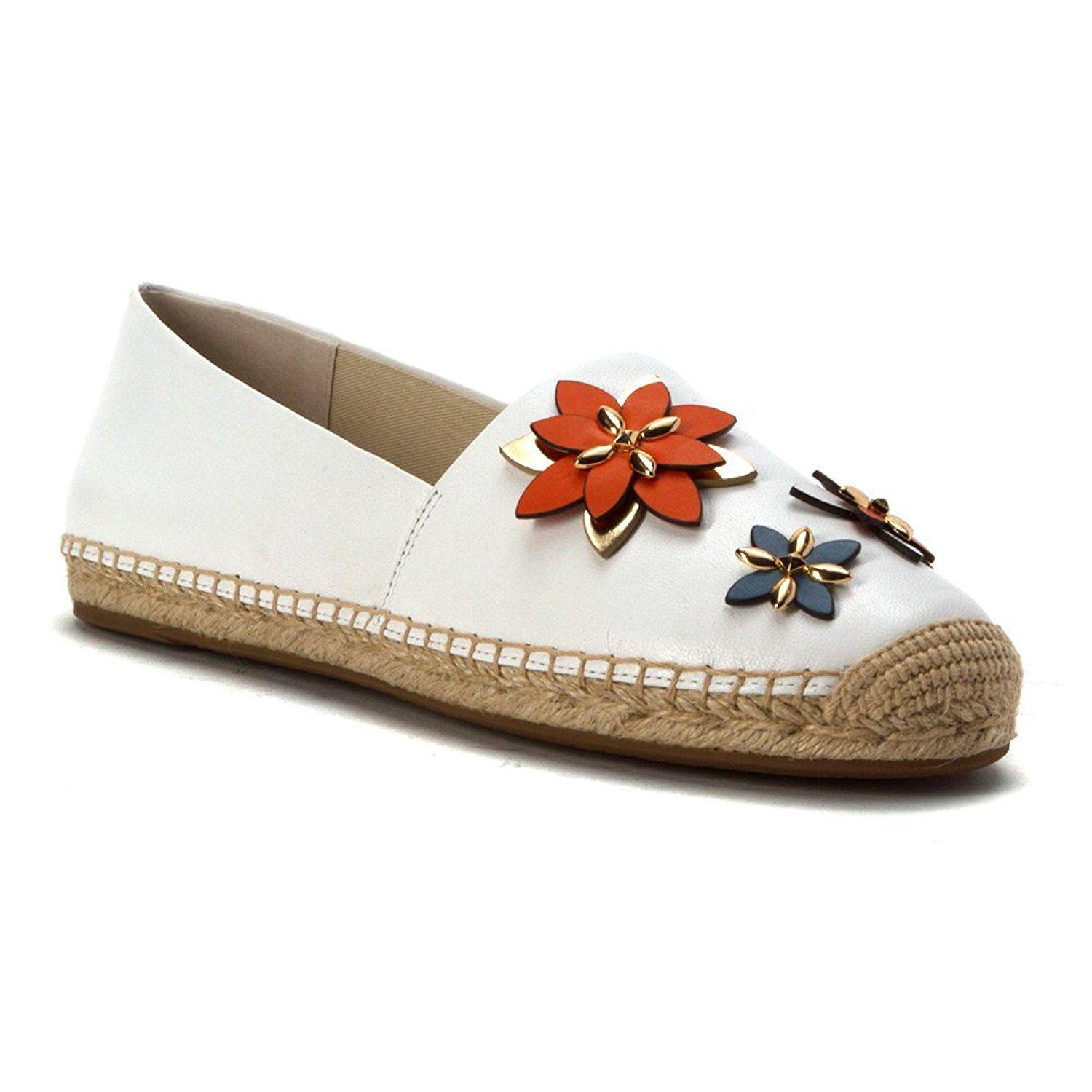 b3dad8aceac MICHAEL Michael Kors. White Womens Heidi Leather Closed Toe Espadrille Flats