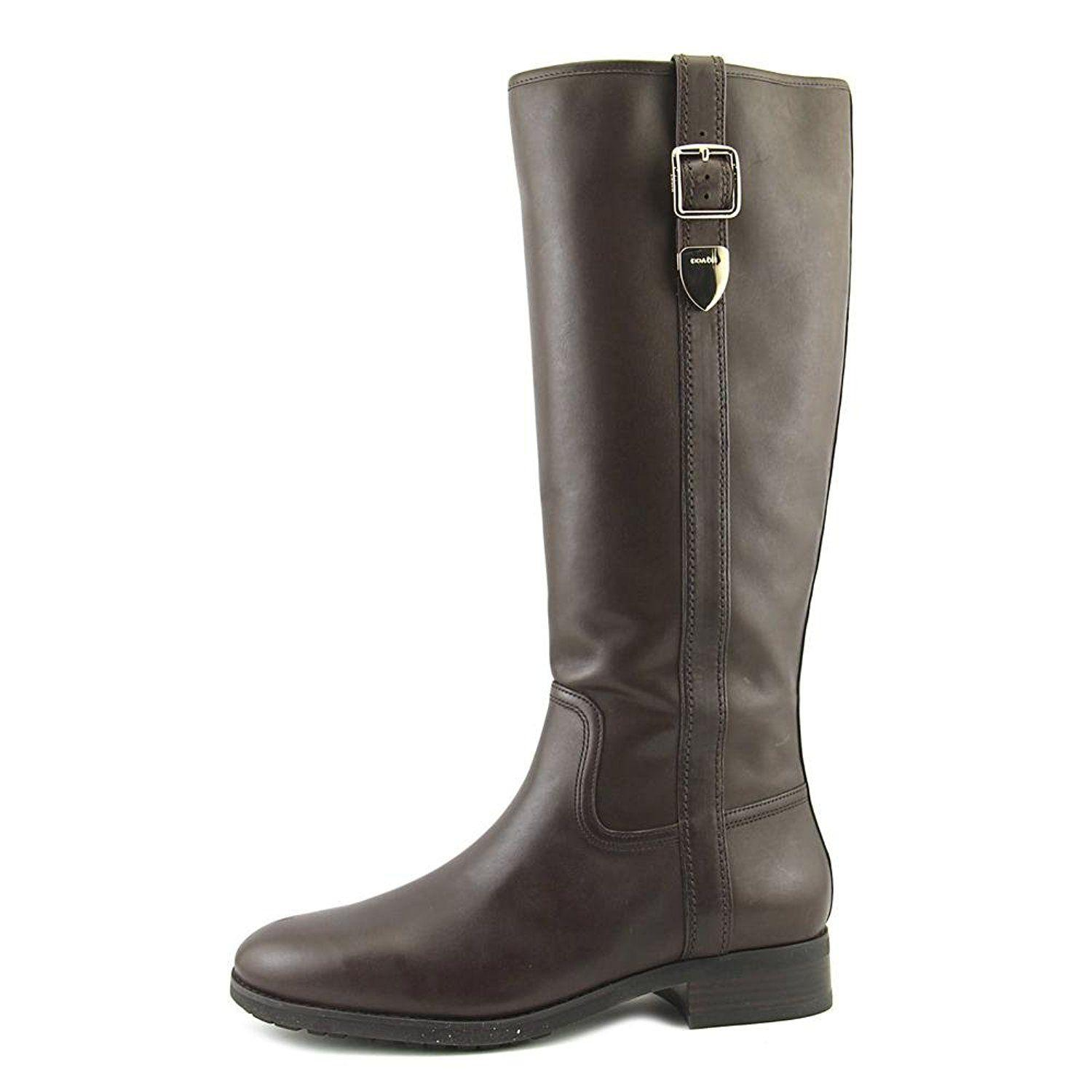 f741532dff9 Lyst - Coach Womens Easton Closed Toe Knee High Fashion Boots in Brown