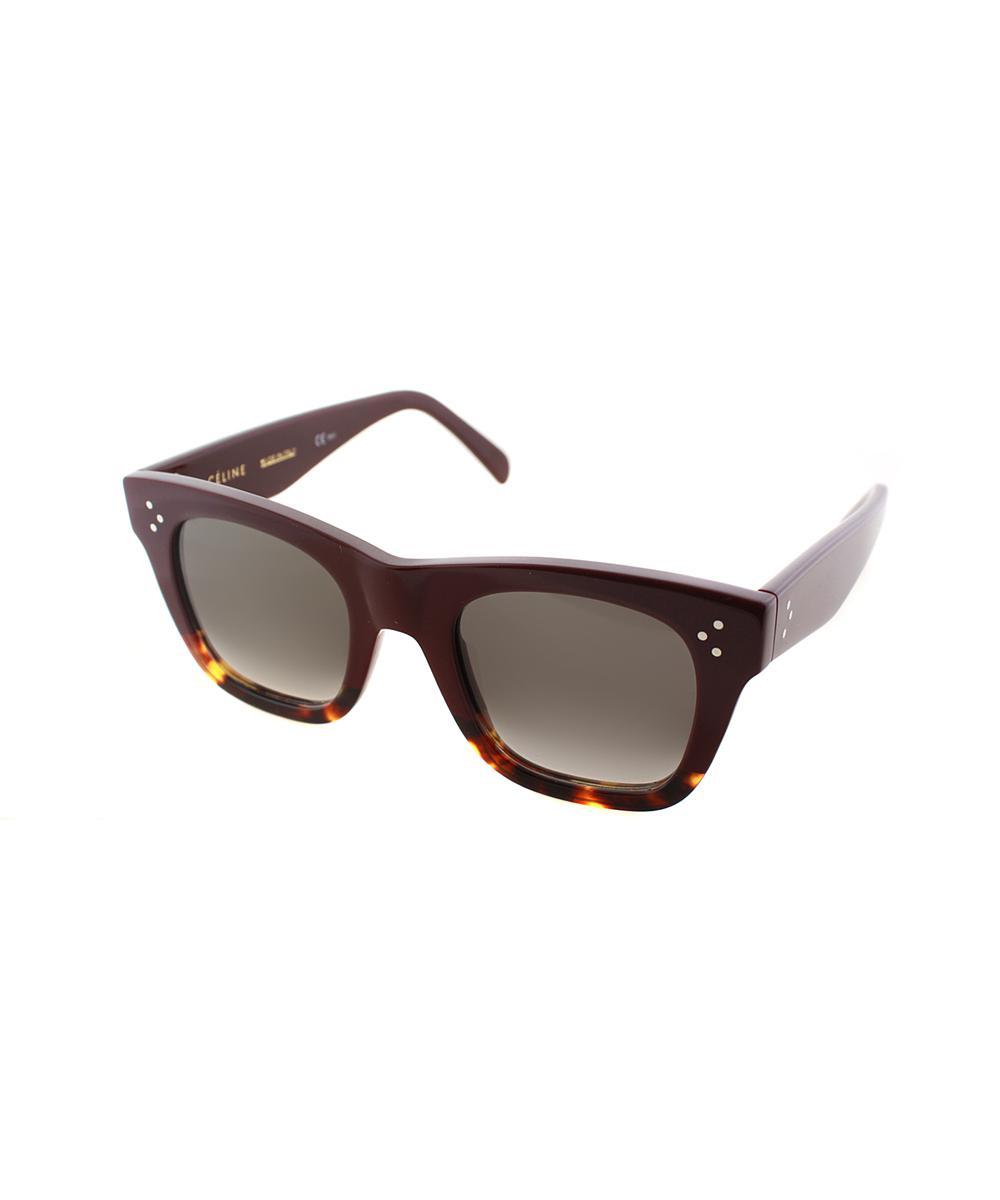 093c127be0c Lyst - Céline Square Plastic Sunglasses in Red