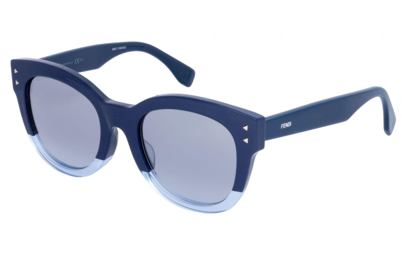 bba512c70164 Lyst - Fendi Ff 0239 f s Rectangular Women Sunglasses Blue smoke ...