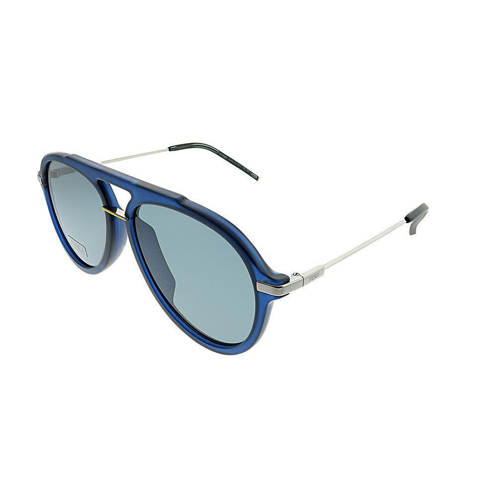 42eef42786338 Lyst - Fendi Fantastic Ff M0011 s Pjp Blue Aviator Sunglasses in Blue