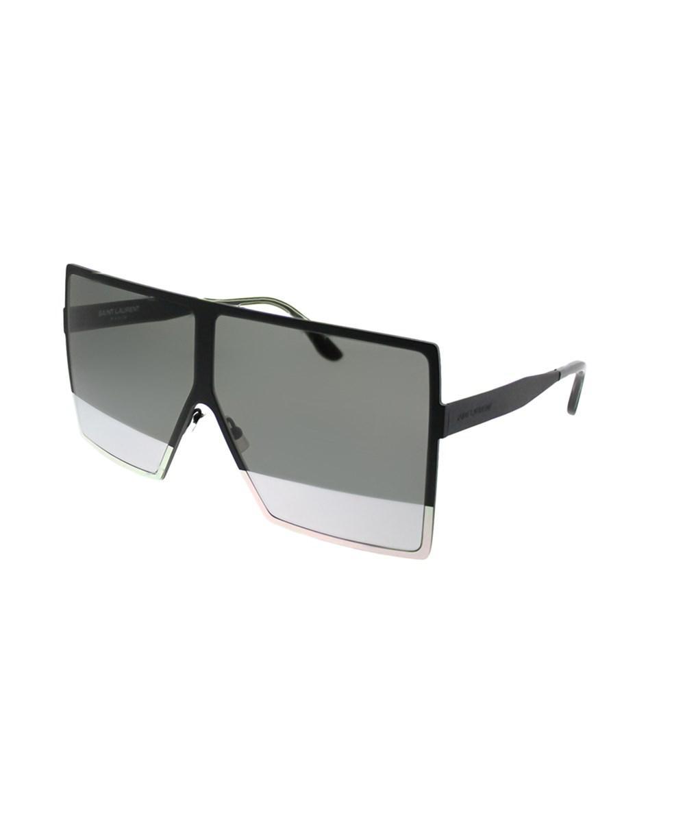fef9325cf3 Lyst - Saint Laurent 182 Betty 004 Black Square Sunglasses in Black