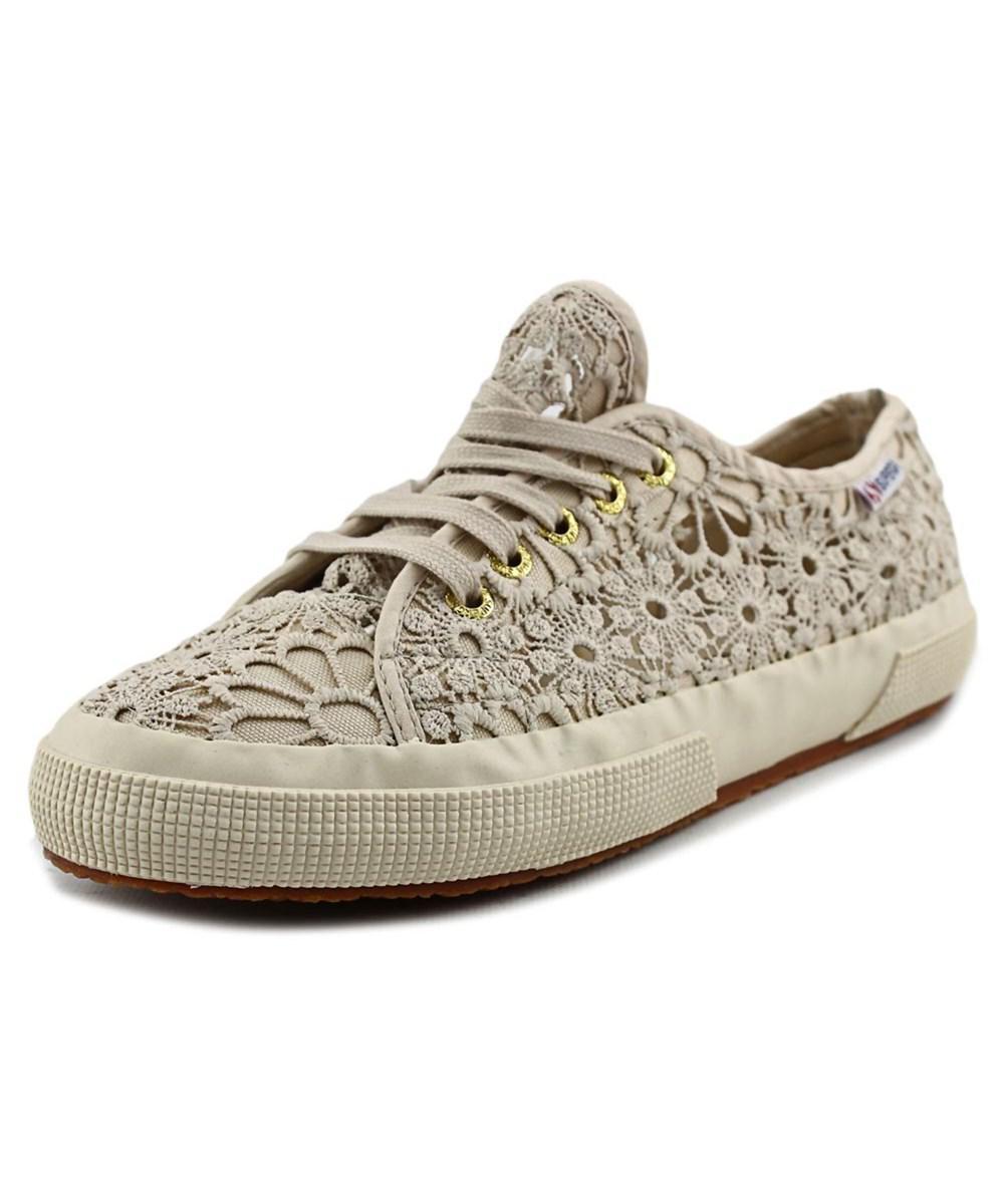de19b6b93a77 Lyst - Superga Cotmacramew Women Synthetic Tan Fashion Sneakers