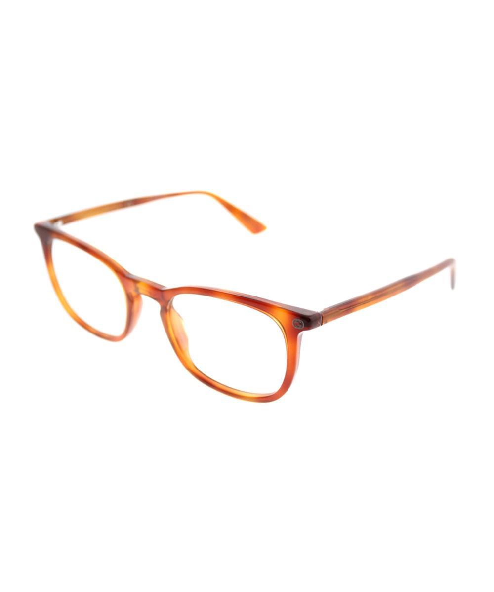 1ef29349df Gucci Gg0122o 003 Havana Square Eyeglasses in Brown - Lyst