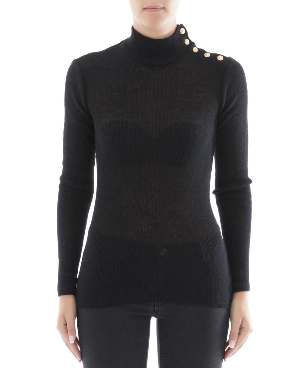 Balmain Women's Black Wool Sweater in Black | Lyst