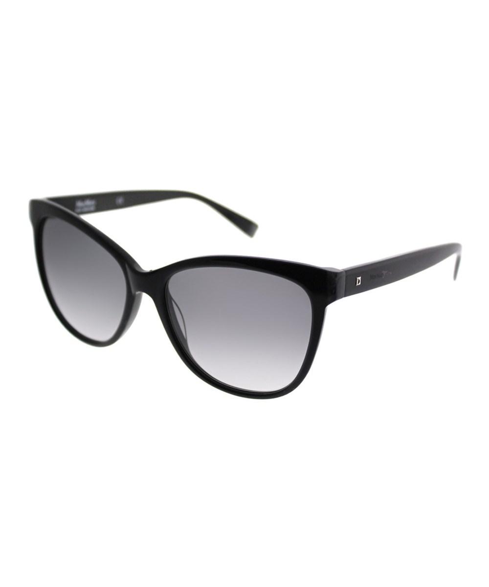 538d4e818eb Lyst - Max Mara Thin s 807 Vk Black Cat-eye Sunglasses in Black
