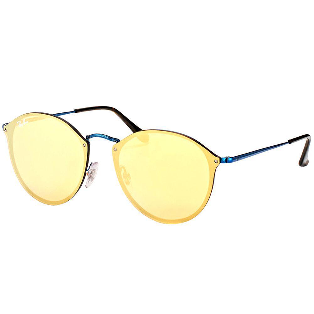 a4c622a3dd Ray-Ban. Women s Blaze Round Rb 3574n 90387j Blue Round Sunglasses