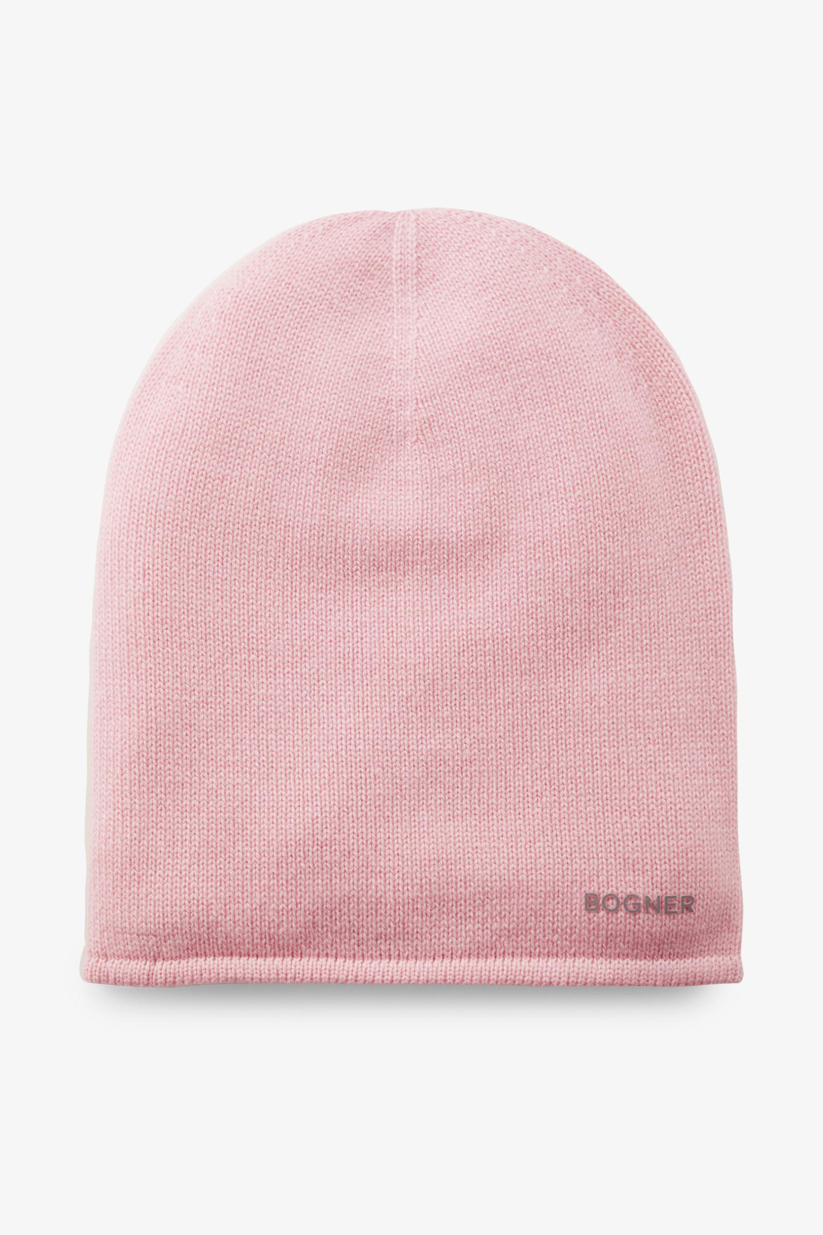 Bogner Marin Cashmere Beanie In Flamingo Pink in Pink - Lyst a6d7af8e4541