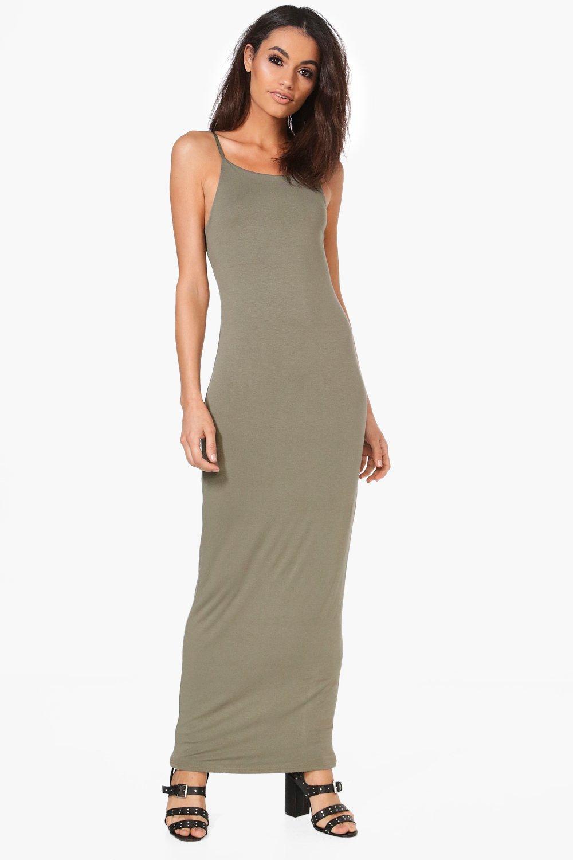 0b3a24db0052ef Boohoo Han Double Layer Strappy Bodycon Maxi Dress - Lyst