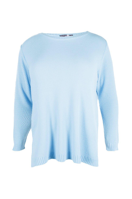 24ce240564e ... Plus Side Split Moss Stitch Tunic Sweater - Lyst. View fullscreen