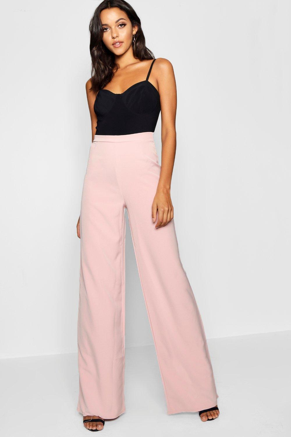 25721ee9c8cf6 Boohoo. Women's Tall High Waisted Woven Wide Leg Trousers