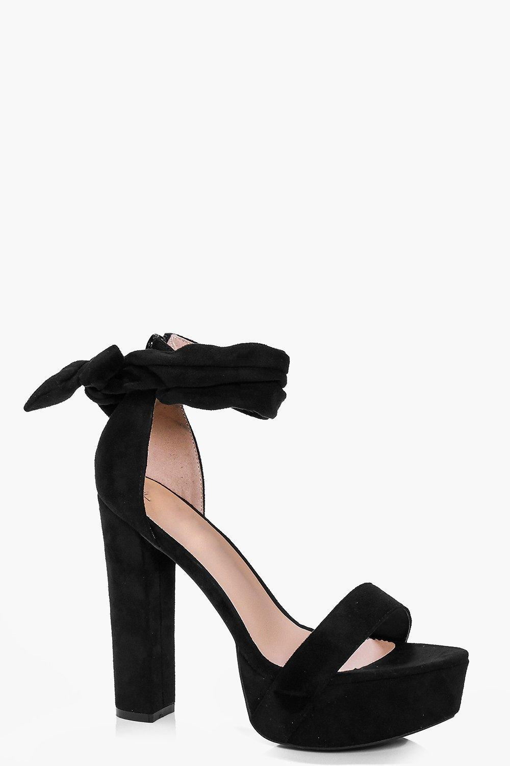 d94ca90157d0 Lyst - Boohoo Two Part Platform Heels in Black